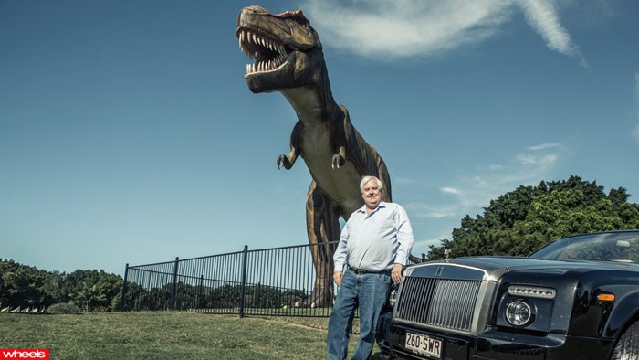 clive palmer, motorist, wheels, rolls royce, gold coast