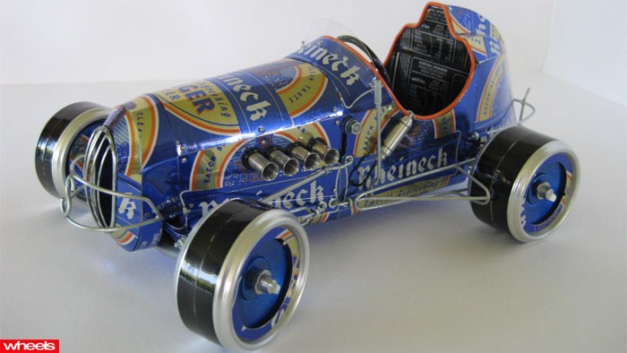 Aluminium drink cans turned into amazing automotive works of art