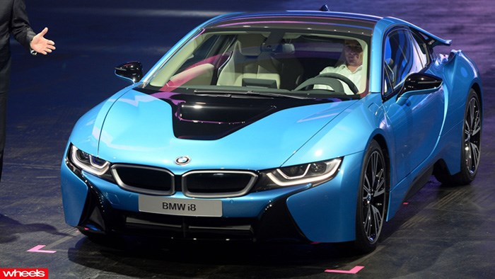 The new BMW i8 hybrid supercar