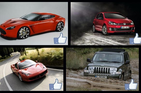 10 most 'liked' car brands on Facebook