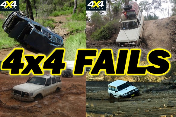4x4s stuck in the mud
