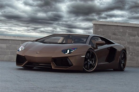 Chocolate-brown Lamborghini Aventador looks tasty