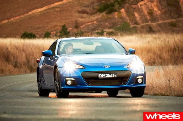 Wheels drive the Subaru BRZ