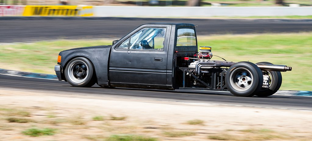 Mid-engine Holden Rodeo track monster