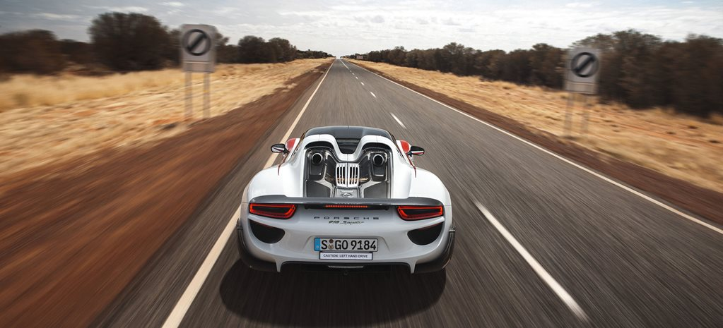 Porsche 918 Spyder takes on the outback