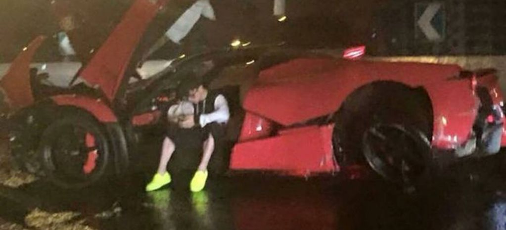 In pics: LaFerrari crashes in Shanghai