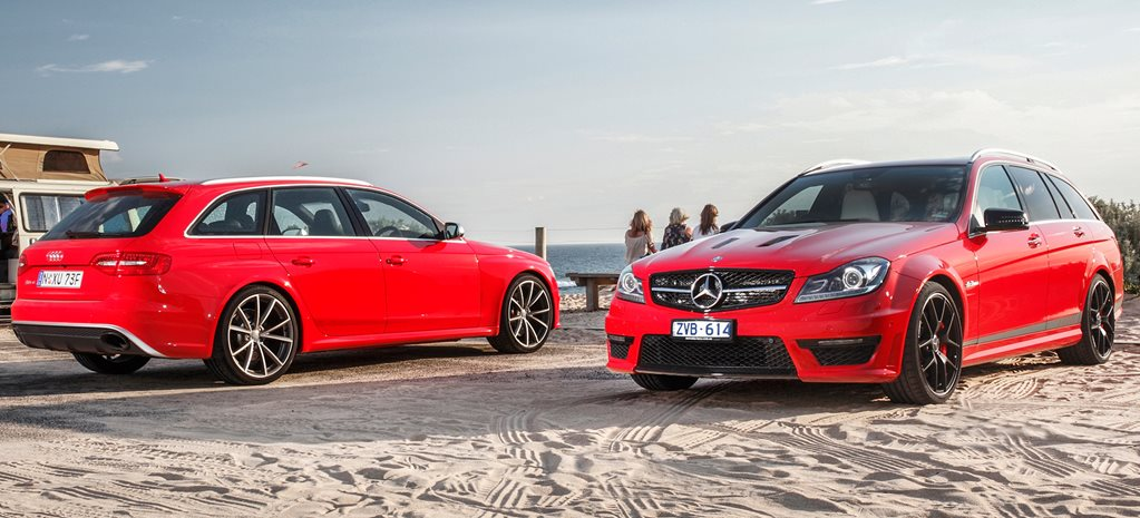 Audi RS4 vs Mercedes C63 507 Estate