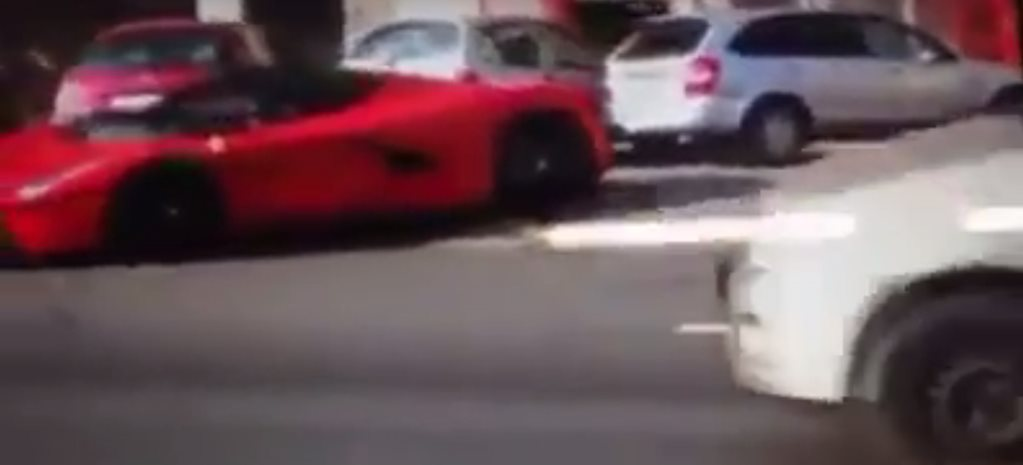 LaFerrari spins on street, crashes