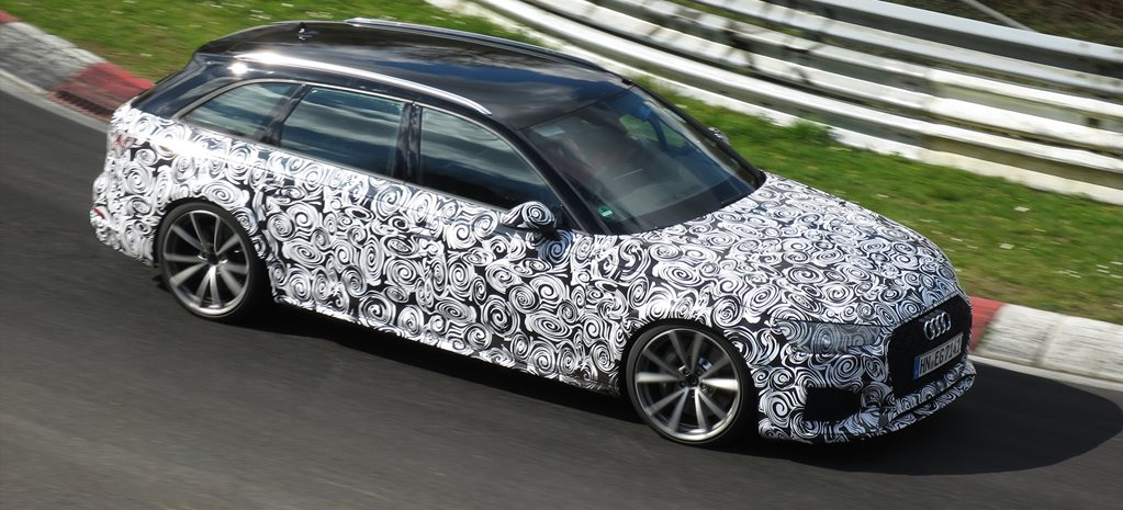 2017 Audi RS4 spied testing