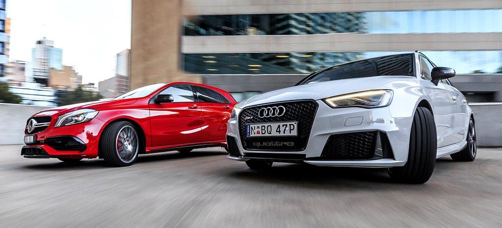 Audi RS Vs MercedesAMG A - Audi r8 quarter mile