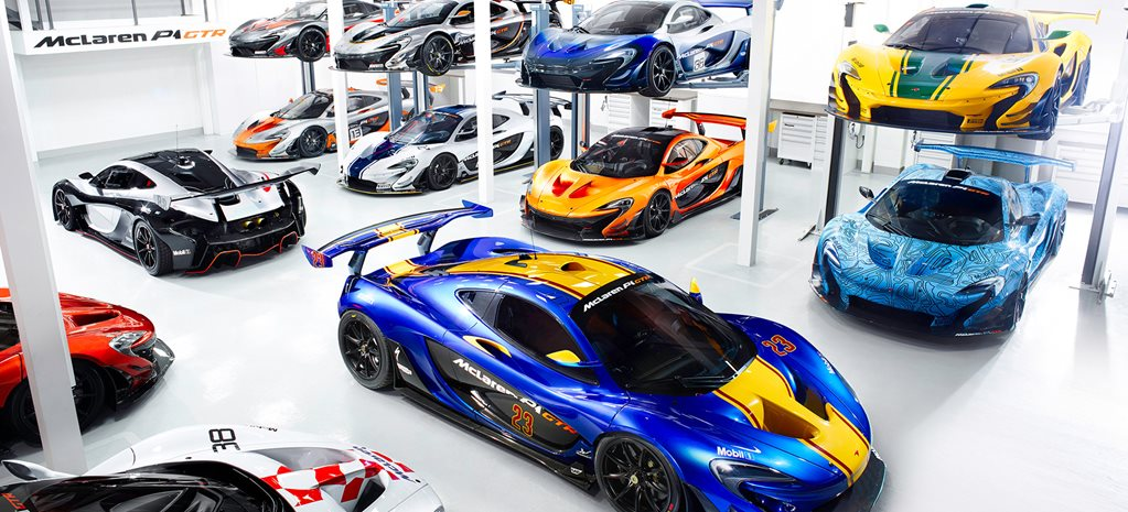 McLaren's P1 GTR workshop