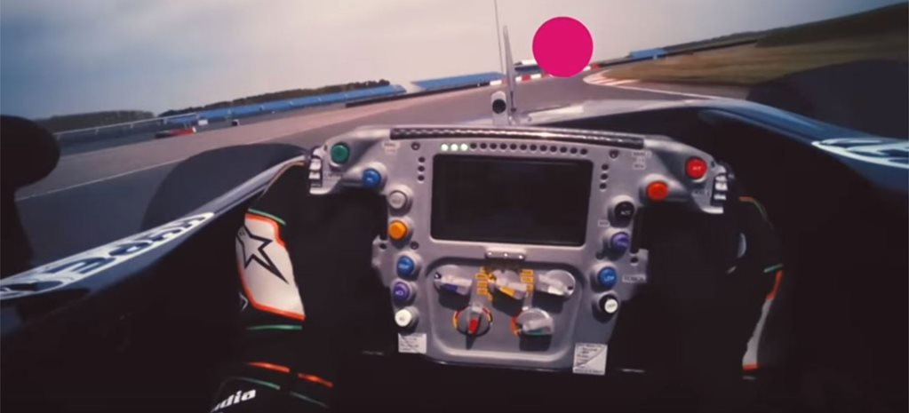 This is what a Formula 1 driver sees