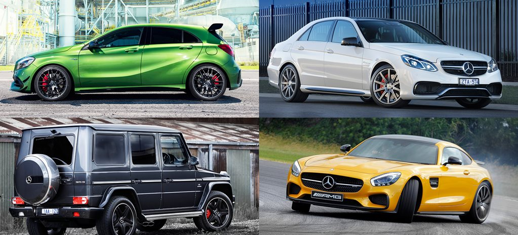 This is the full Mercedes-AMG range