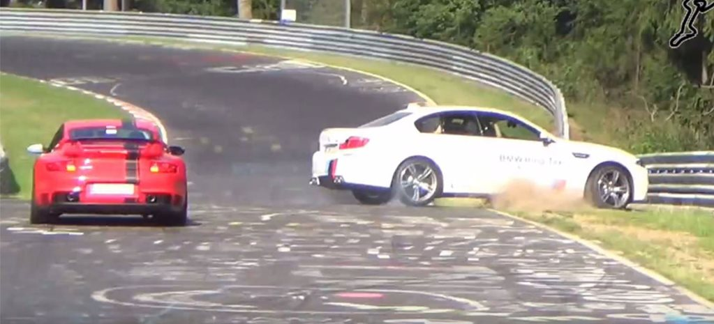 BMW M5 'Ring Taxi crash