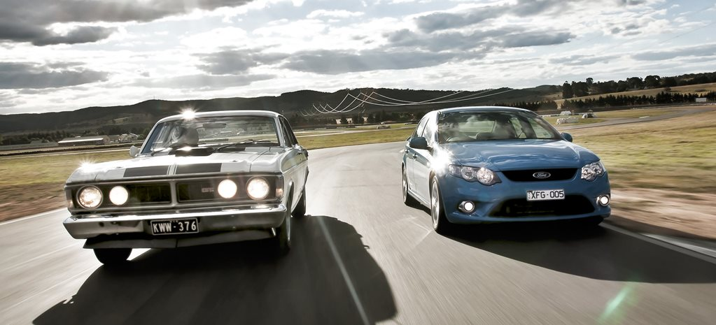 Ford XY Falcon GT HO vs FG Falcon XR6