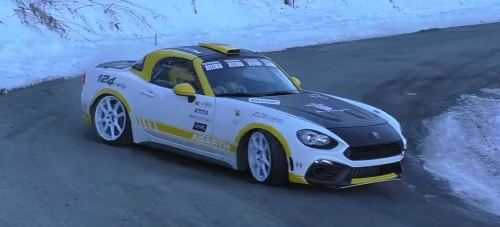 Abarth 124 Spider Rally testing
