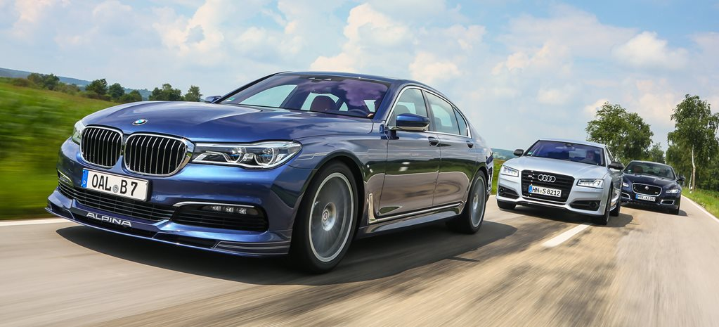 Alpina B7 vs Audi S8 Plus vs Jaguar XJR
