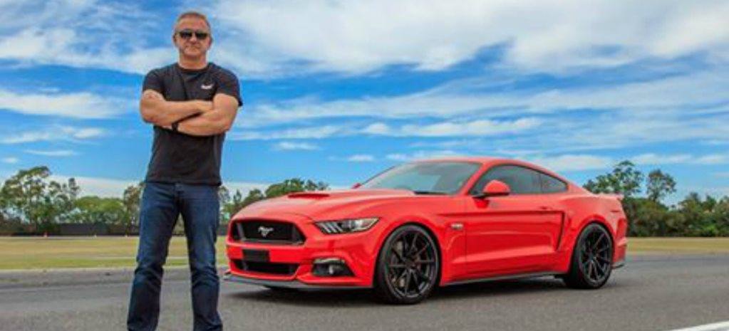 Russell Ingall shows off new Herrod Ford Mustang