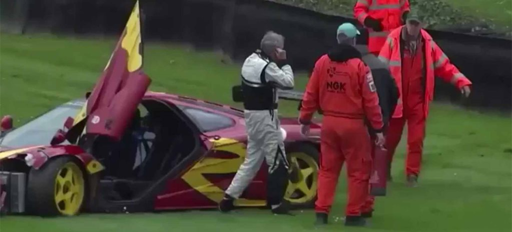 Nick Mason McLaren F1 GTR crash Goodwood cover