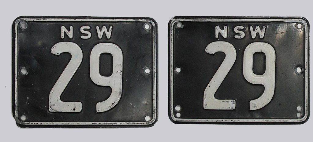 both number plates nsw numerical number plates 29