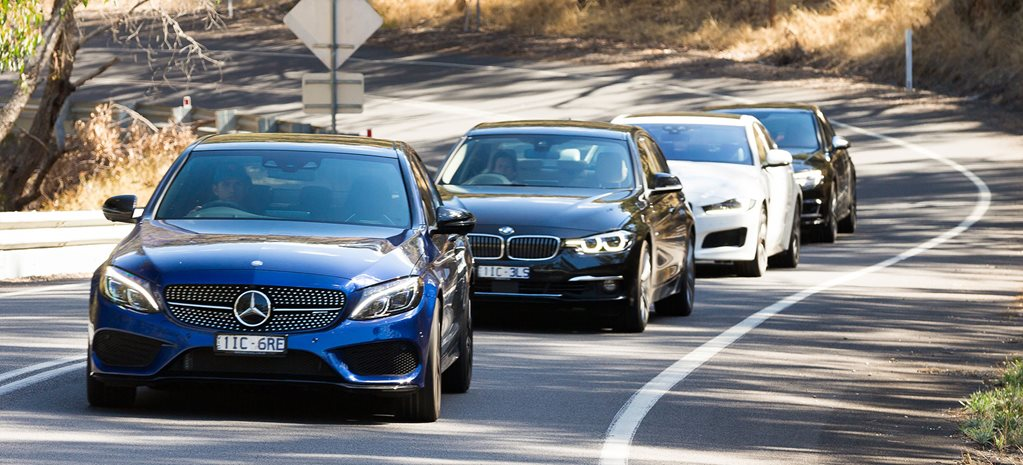 Jaguar XE S vs BMW 340i vs Mercedes AMG C43 vs Audi S4