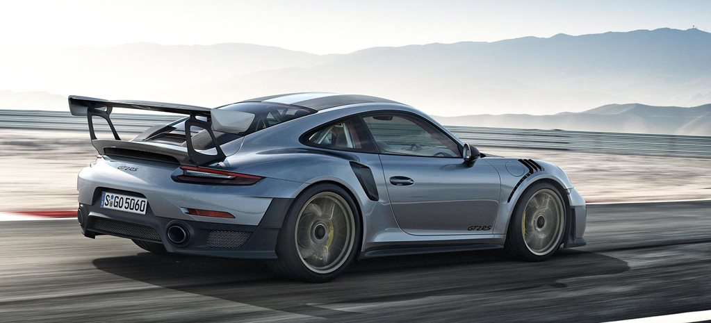 porsche 911 GT2 RS driving rear main
