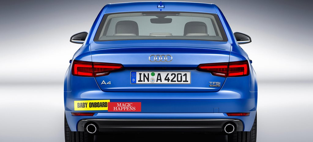 Audi A4 bumpers stickers