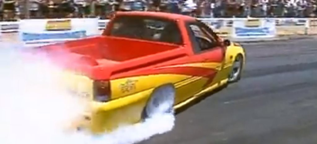 Peter Brock's most Aussie burnout ever
