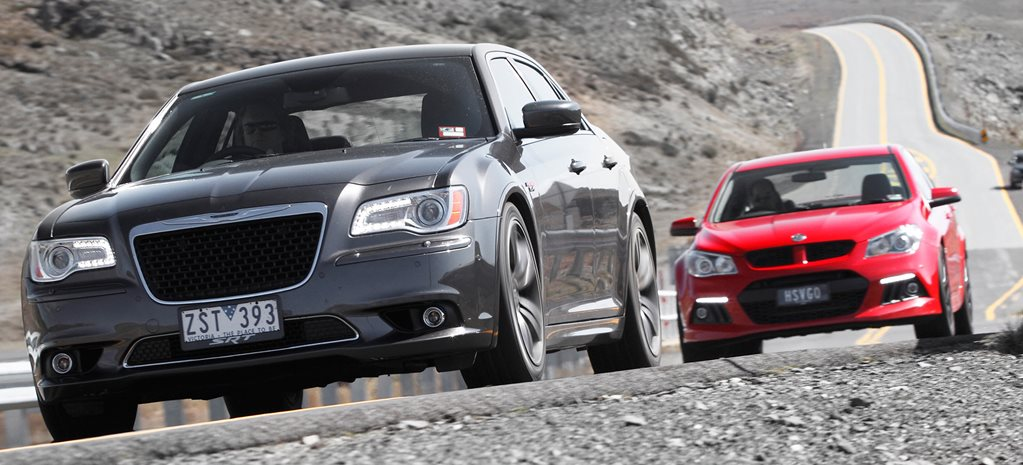 HSV Clubsport vs Chrysler 300 SRT8 Core main
