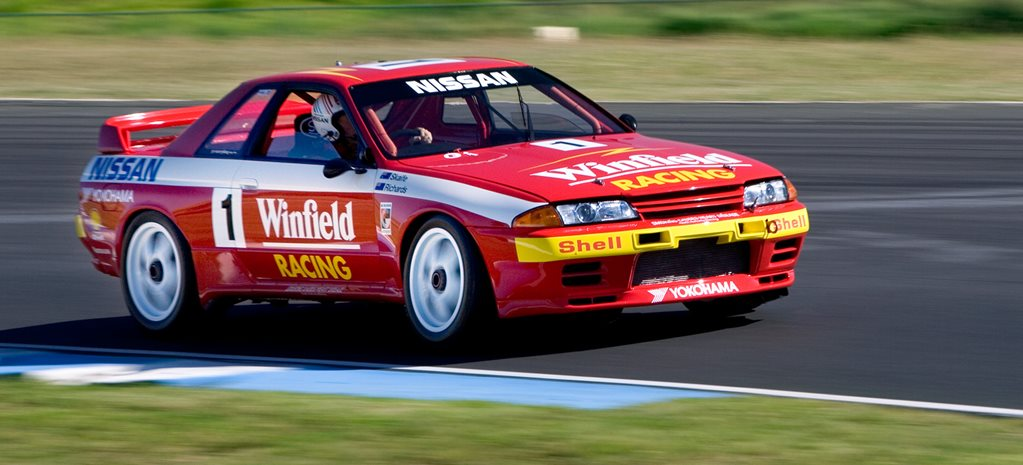 Group A Nissan R32 Skyline GTR racetrack main