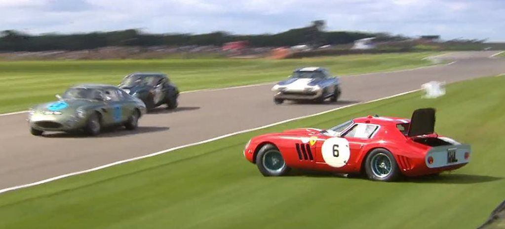 Ferrari 250 GTO crashes at Goodwood Revival main