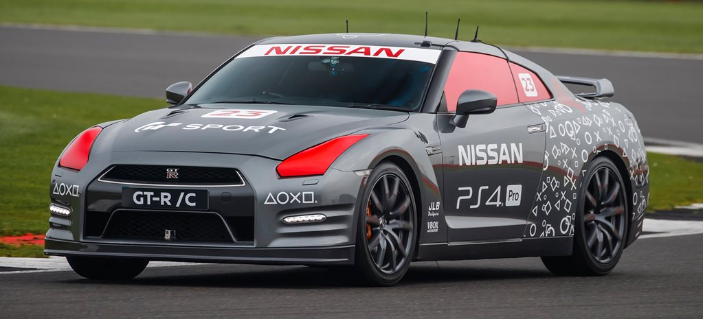 Nissan GT R controlled by PS4 remote
