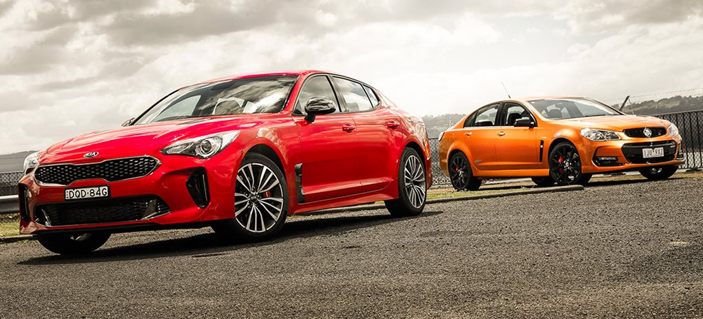 2017 Kia Stinger 330S vs 2017 Holden VFII SS V Redline Commodore main