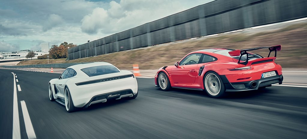 2018 Porsche 911 GT2 RS vs Porsche Mission E Concept comparison review