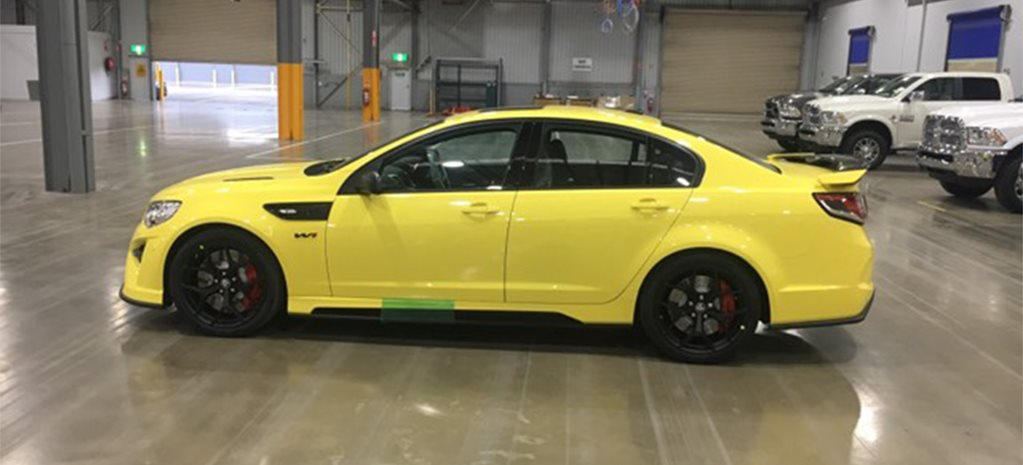 HSV GTSR W1 yellow cover