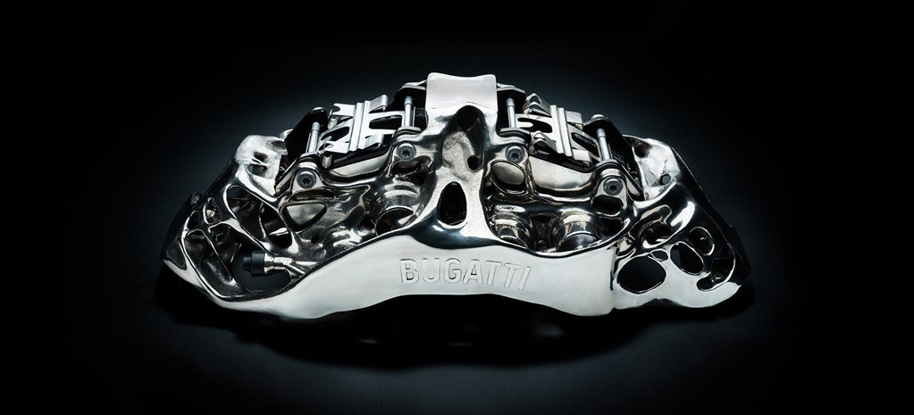 Bugatti 3D printed brake caliper news