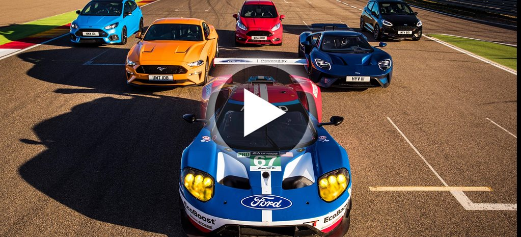 Ford Performance range faces off on track video
