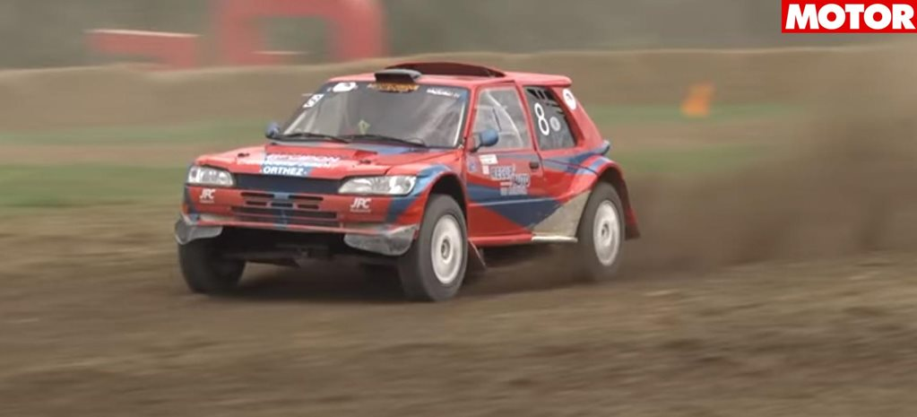 Triple rotor 20B powered Peugeot 205 rally car