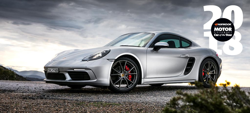 Porsche 718 Cayman S Performance Car of the Year 2018 3rd Place