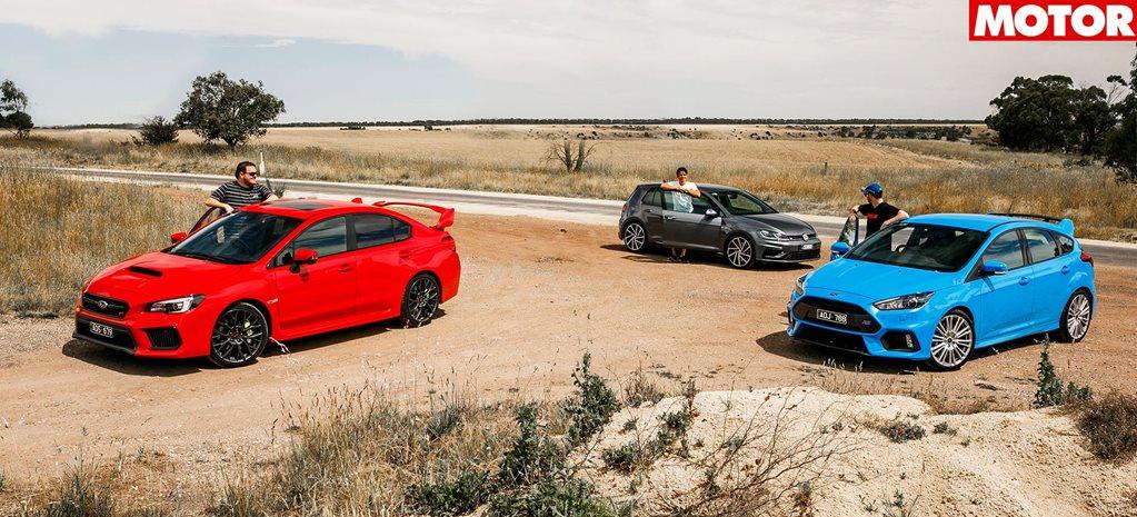 2018 Ford Focus RS vs Subaru WRX STI vs Volkswagen Golf R comparison