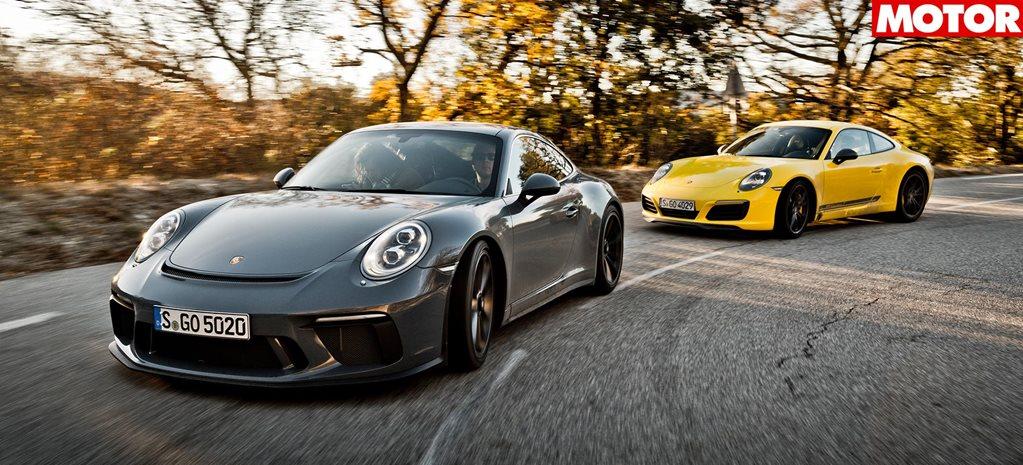 2018 Porsche 911 GT3 Touring vs 911 Carrera T comparison review