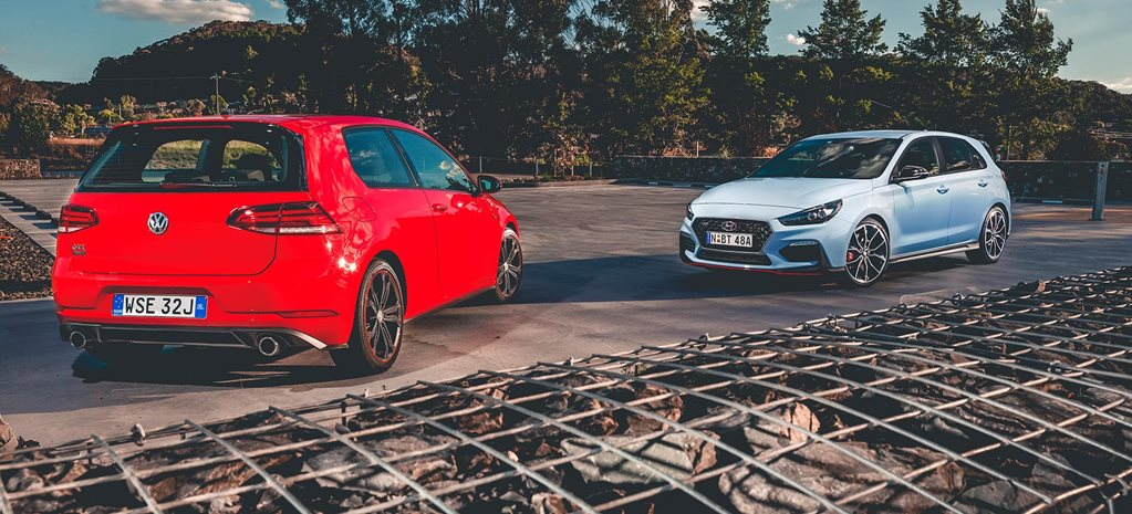 2018 Hyundai i30 N vs VW Golf GTI comparison feature review