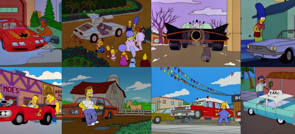 THE SIMPSONS' COOLEST RIDES