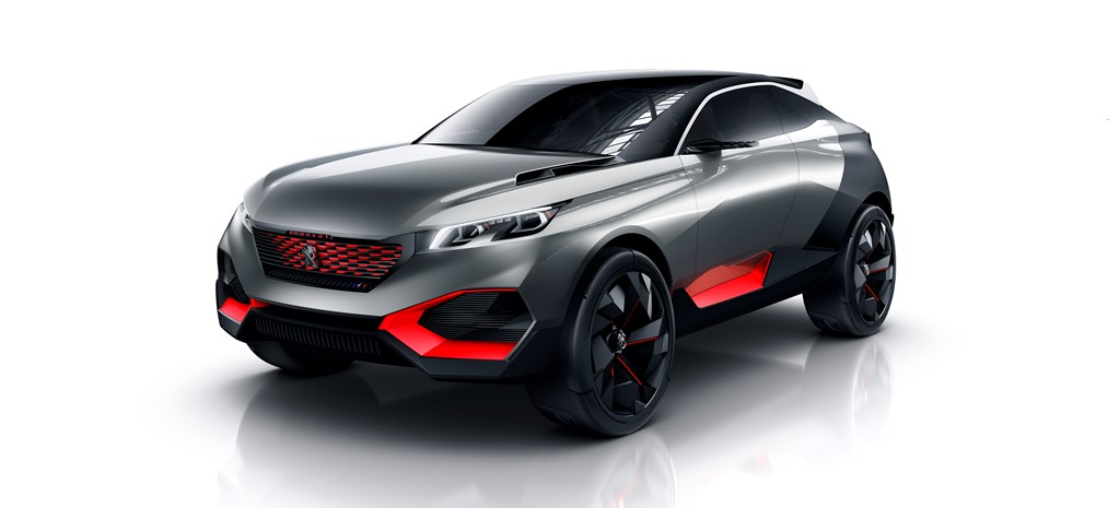 Peugeot Quartz Concept packs 500 horses