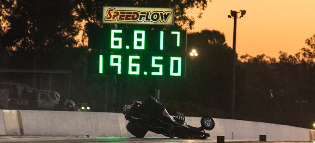 BLOWN ALTERED HITS WALL HARD AT WINTERNATIONALS