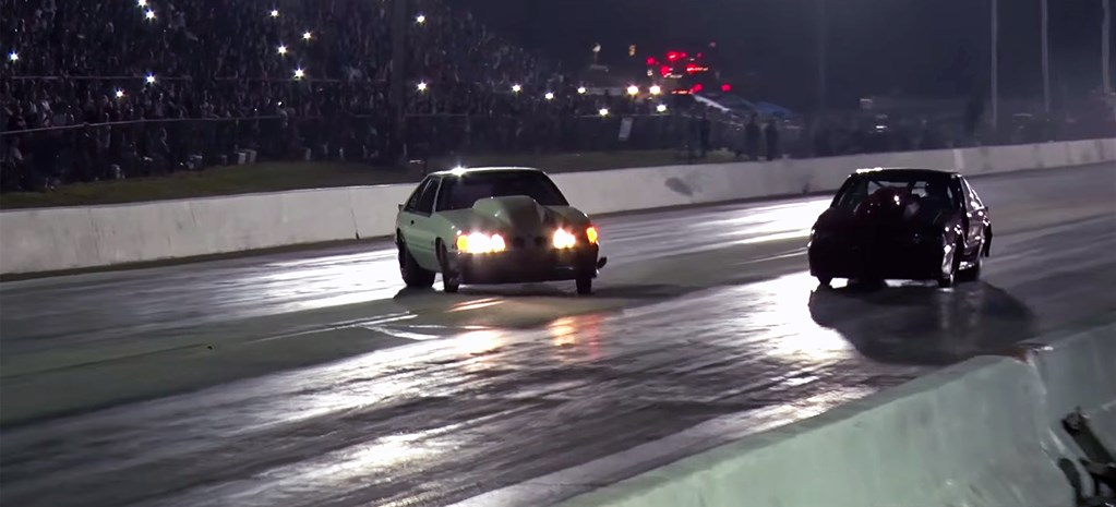 VIDEO: STREET OUTLAWS DEATH TRAP MUSTANG NEAR MISS!