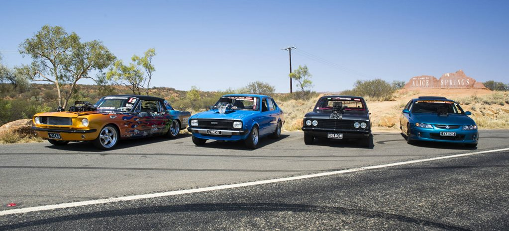 VIDEO: DRAG AND BURNOUT CARS CRUISE ALICE FOR RED CENTRENATS