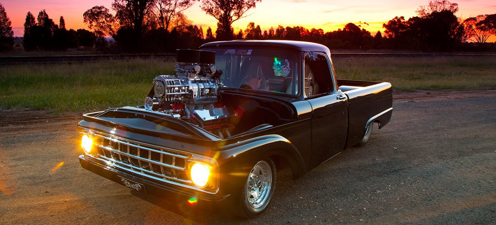 488-CUBE BLOWN 1963 FORD TRUCK