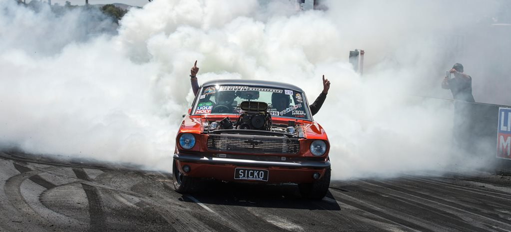 VIDEO: JAKE MYERS'S SICKO MUSTANG BURNOUT AT SUMMERNATS 29