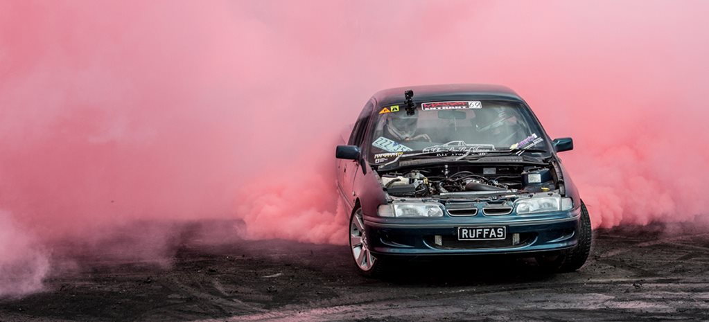 CHRIS 'BIG RED' TANNER'S BURNOUT SEND OFF